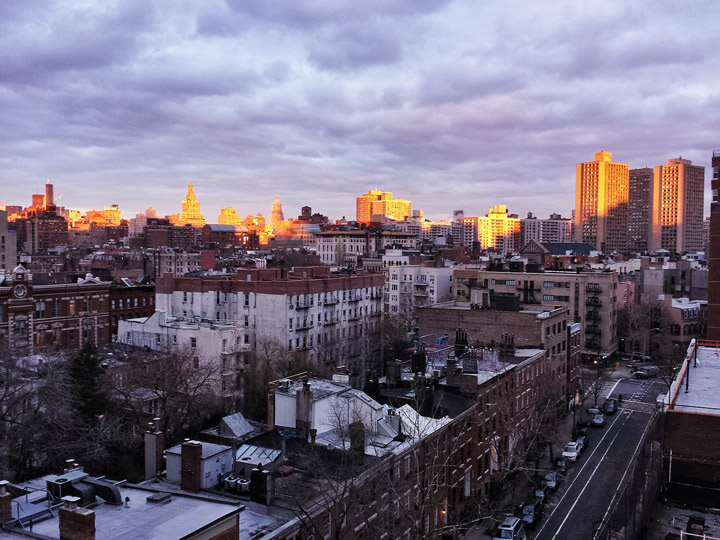 liminal by ethan feuer: tribeca sunset panorama