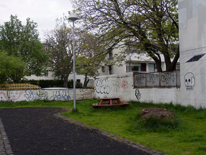 park with graffiti in reykjavik